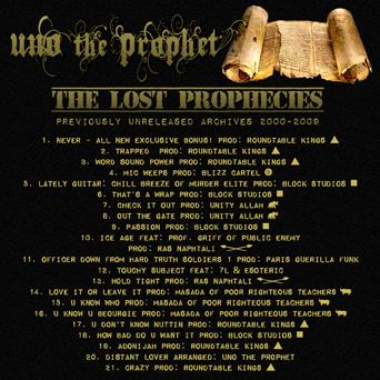 Lost Prophecies (Back)