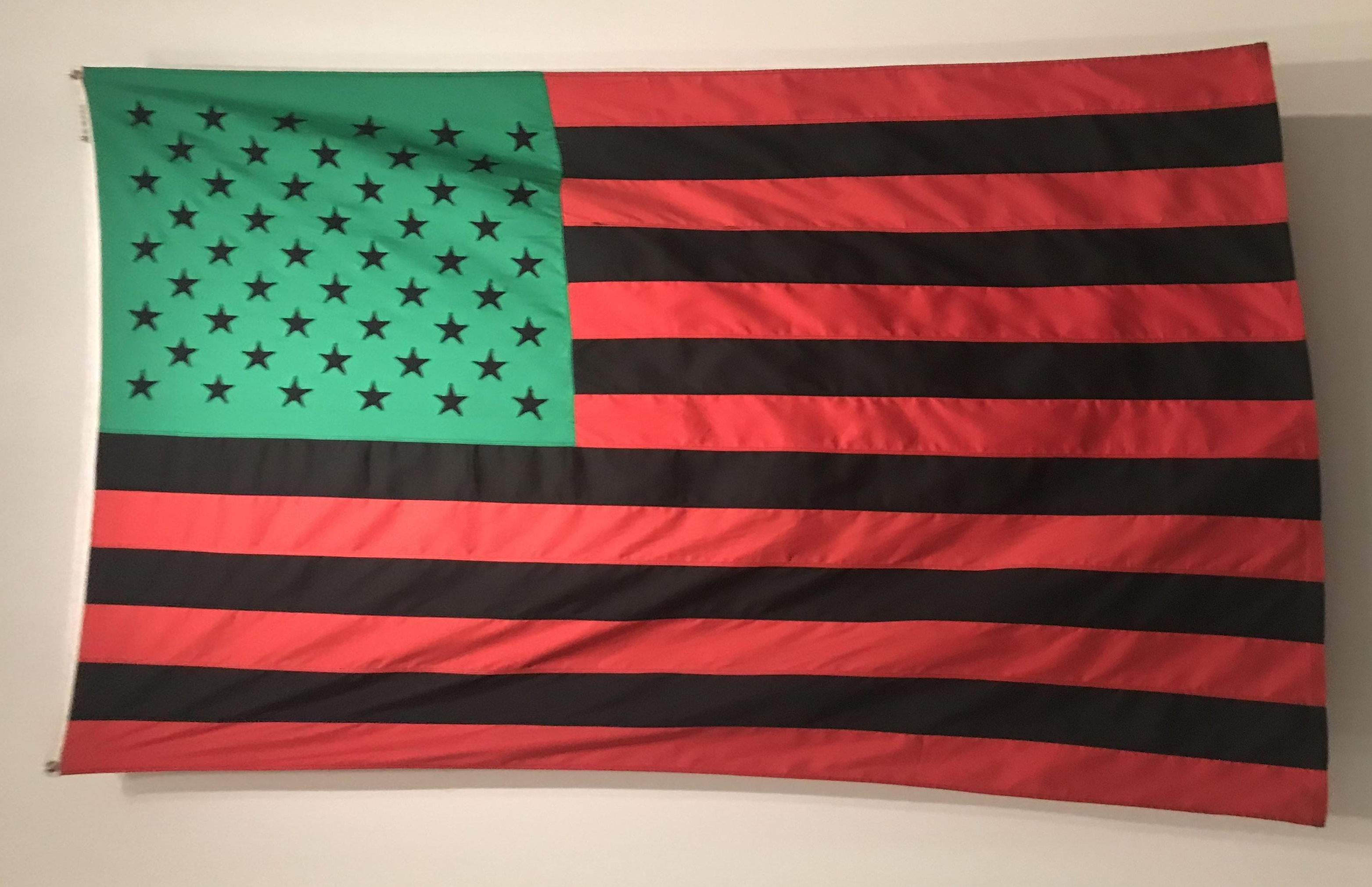 ba84986412b0 Red Black and Green Flag Stars and Stripes large 3x5 feet